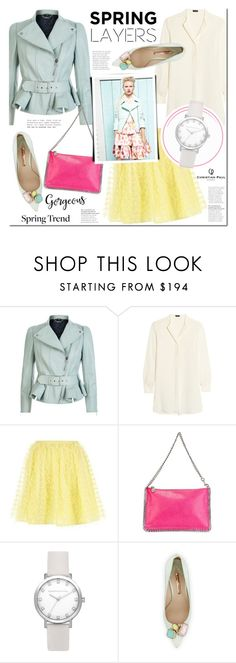 """Spring jacket"" by mada-malureanu ❤ liked on Polyvore featuring Alexander McQueen, Joseph, RED Valentino, STELLA McCARTNEY, Chanel, Sophia Webster, wardrobebasics and christianpaul"