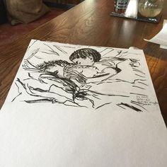 Sleep #sketchofday #sketch #inksketch #justforfun #love #grandchildren #art🎨#londonurbansketchers #sketchbook #sketches#instagram #picoftheday #love #brotherandsister #