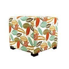 Perfect at the foot of a bed or chair, this ottoman will bring character to any room. Upholstered in a trendy print, this ottoman features plush foam padding for added comfort.