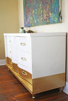 Gold Dipped Dresser
