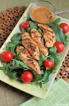 Spicy Peanut-Lime Grilled Chicken Salad