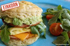 Mmmmmm breakfast sandwiches! Our favorite. This biscuit breakfast sandwich recipe made with einkorn biscuits is 'next-level' delicious.