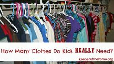 How many clothes do kids really need? How much is too much?