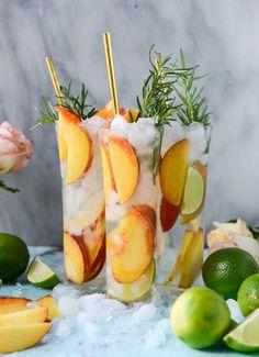 fresh peach gin and