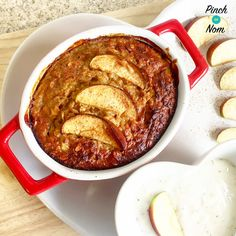 Low Syn Pear and Apple Baked Oats | Slimming World