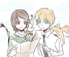 Hikari & Takeru, apparently lost. #Digimon