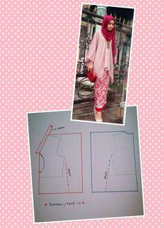 30 ideas sewing dress patterns free tunics for 2019 Dress Sewing Patterns, Sewing Patterns Free, Dress Tutorials, Sewing Tutorials, Blouse Tutorial, Sewing Clothes Women, Simple Shirts, Mode Hijab, Diy Dress