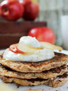 Apple Pie Pancakes (THM-E, Low Fat, Sugar Free)