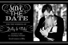 Black and White Save the Date