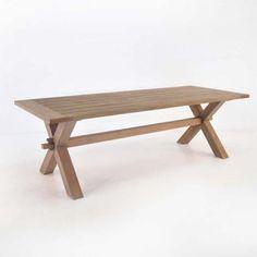 Outdoors / teak cross leg table