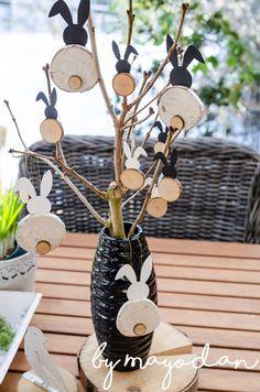 DIY bunny made of branches - diy garden decor kids Crafts For Kids, Diy Crafts, Easter Crafts, Diy Garden Decor, Spring Crafts, Plexus Products, Kawaii, Decoration, Kids Playing