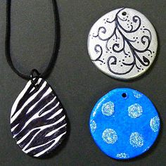 Check out our original video: Making a Zebra Pendant with Air Dry Clay. You'll be amazed how easy it is to make lightweight one-of-a-kind pendants using air dry clays. Simply create your shape, paint or draw your design ... add a jump ring and wear! Works great with Cloud Clay or Hearty Clay and your choice of paints or even Sharpie markers.