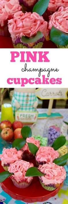 This Pink Champagne Cupcakes Recipe is perfect for spring! I love the aromatic flavor of the pick champagne combined with... chocolate candies?!? Yep, they're in there And the whole thing is so colorful and delicious. The perfect dessert to an Easter meal or springtime brunch. Ad Have a #SweeterEaster with these pink champagne cupcakes!