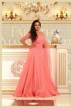 Whatsapp on 9496803123 for customisation Half Saree Lehenga, Lehenga Gown, Lehnga Dress, Bridal Lehenga 2017, Indian Bridal Sarees, Kerala Engagement Dress, Engagement Gowns, Half Saree Designs, Lehenga Designs