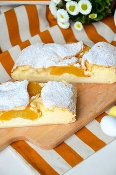 Kokos - Pfirsich - Strudel Quick preparation, super simple, nice to look at and taste easy to kneel Gourmet Recipes, Sweet Recipes, Baking Recipes, Cookie Recipes, Dessert Recipes, Gateaux Cake, Sweet Bakery, Sweets Cake, Little Cakes