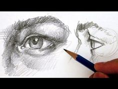 How to Draw the Eye - Different Angles Side view starts at 8:55 Shading front start at 6:00