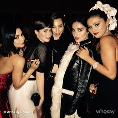 Met Ball girl's night with @vanessahudgens @lianaweston @hernameisbanks and @selenagomez. Grace and lace and fun...