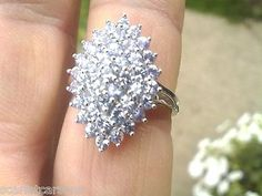 10K White Gold Ring With 1.44ctw Genuine Tanzanites