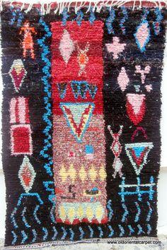 Moroccan Berber Boucherouite Pictorial Rug Ebay