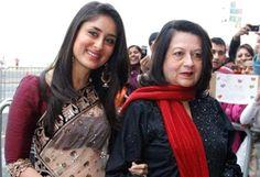 Kareena Kapoor with her mom