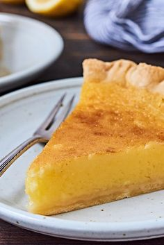 Dense, flavorful lemon filling in a flaky crust. Cake Ingredients, Pie Recipes, Dessert Recipes, Cooking Recipes, Lemon Chess Pie, King Arthur Flour, Homemade Tacos, How To Grill Steak, Sweets