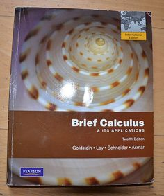 Pearson International Edition Brief Calculus Calculus, Ebay, Food, Mathematics, Pocket Books, Meal, Essen, Hoods, Meals