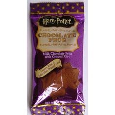 Harry Potter Milk Chocolate Frog with Collectible Wizard Trading Card Rich milk chocolate with crisp rice crunchies inside. Cheap Chocolate, Chocolate Sticks, Chocolate Frog, Chocolate Coins, Chocolate Brands, Melting Chocolate, Harry Potter Candy, Harry Potter Food, Harry Potter Birthday