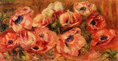 Anemones. Private Collection - Pierre-Auguste Renoir
