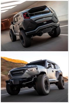 Rezvani's Tank X looks like a Transformer and packs horsepower. Tap for more on this mean off-roader. Hellcat Engine, New Jeep Wrangler, Cool New Gadgets, Armored Truck, Crate Engines, Mustache Party, Luxury Suv, Top Cars, Lego Lego
