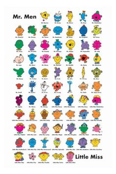 These were the books of my childhood! haha The Mr Men Book Series byRogerHargreaves Little Miss Characters, Little Miss Books, Mr Men Little Miss, Cartoon Characters, Mr Men Books, My Books, Story Books, My Childhood Memories, Childhood Toys