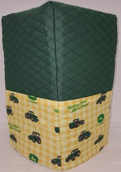 Quilted Green/Yellow Tractor Bread Machine Cover
