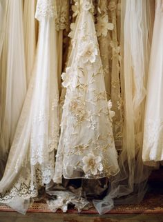 vintage cream gowns.I want to paint this..