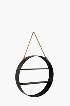 Metal Shelf With Rope Detail - Shelves & Room Dividers - Shop Livi Metal Shelves, Wall Shelves, Floating Shelves, Shelf, Detail Shop, Room Dividers, Metal Furniture, Living Spaces, Vase