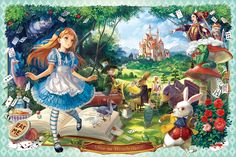 EPO-11-433 46 不思議の国のアリス物語 1000ピース ジグソーパズル