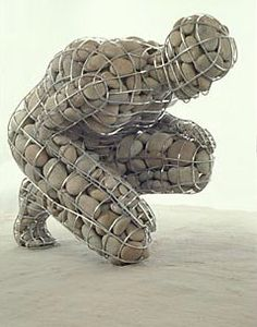 Celeste Roberge Sculpture.  Her work is awesome and a nice contrast with Goldsworthy
