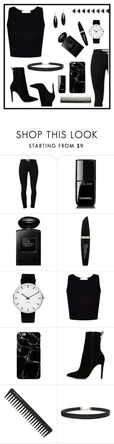 """666"" by m-phil ❤ liked on Polyvore featuring Frame, Chanel, Giorgio Armani, Max Factor, Rosendahl, Harper & Blake, ALDO, GHD, Humble Chic and Janis Savitt"