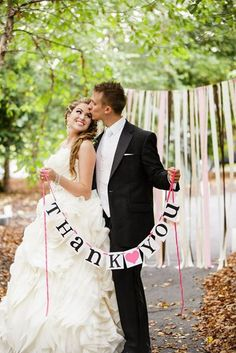 Hey, I found this really awesome Etsy listing at https://www.etsy.com/listing/123857161/thank-you-sign-thank-you-banner-wedding