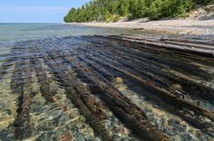 """One of the many shipwrecks along the """"Graveyard Coast"""" of Lake Superior at Pictured Rocks National Lakeshore. Travel Around The World, Around The Worlds, Pictured Rocks National Lakeshore, Grand Marais, Picture Rocks, Michigan Travel, Upper Peninsula, Lake Superior, Shipwreck"""