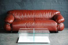 The Good Mod - GIANFRANCO FRATTINI FOR CASSINA LEATHER SESANN SOFA