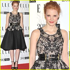 Jessica Chastain at the 2012 Elle Style Awards