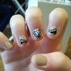 Supernatural nail art castiel