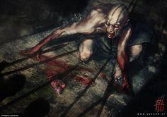 Hunted Ghoul Artwork by Josu Hernaiz