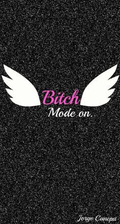 Wallpaper iphone Bitch mode on pink white black 2015 Wings