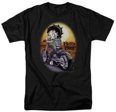 Betty Boop Wild Biker T-shirt Black