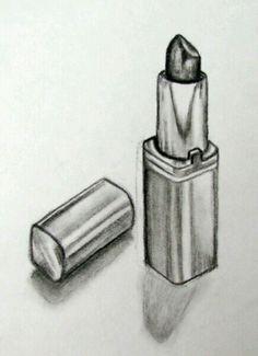 Still life lipstick pencil drawing . Still life lipstick pencil drawing Easy Pencil Drawings, Pencil Drawings For Beginners, Sad Drawings, Realistic Drawings, Art Drawings Sketches, Charcoal Drawings, Shading Drawing, Makeup Drawing, Still Life Sketch