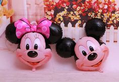 Mickey And Minnie Mouse Foil Balloons Balloon, Valentine'S Day, Wedding And Party Decoration Balloons Number Helium Balloons Inflated Helium Balloons From Richehong, $12.07| Dhgate.Com