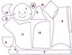 como fazer bonecas de pano - Pesquisa Google