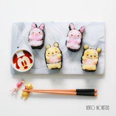 Pooh & Piglet sushi by Ming #bentomonsters (@bentomonsters)
