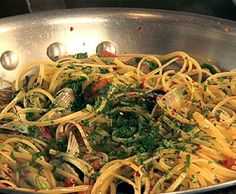 This recipe calls for only 1lb of clams.  We double this with great results!  A Mario Batali recipe