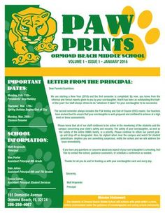 carmel high school newsletter designed and printed by academy